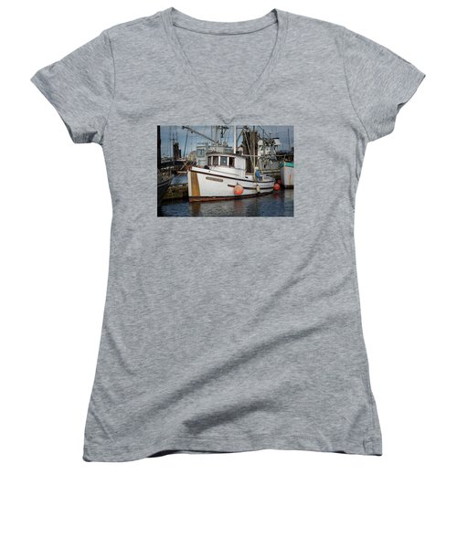 Women's V-Neck T-Shirt (Junior Cut) featuring the photograph Early Spring by Randy Hall