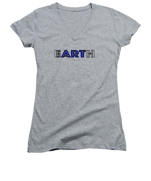 Earth Art Women's V-Neck (Athletic Fit)
