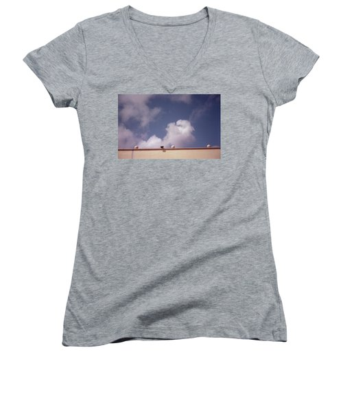 Earth Calling Sky  Women's V-Neck (Athletic Fit)