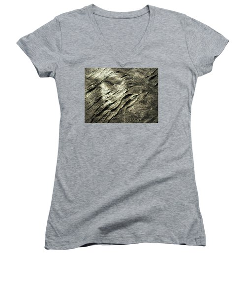 Women's V-Neck T-Shirt (Junior Cut) featuring the photograph Earth Memories - Sleeping River # 4 by Ed Hall