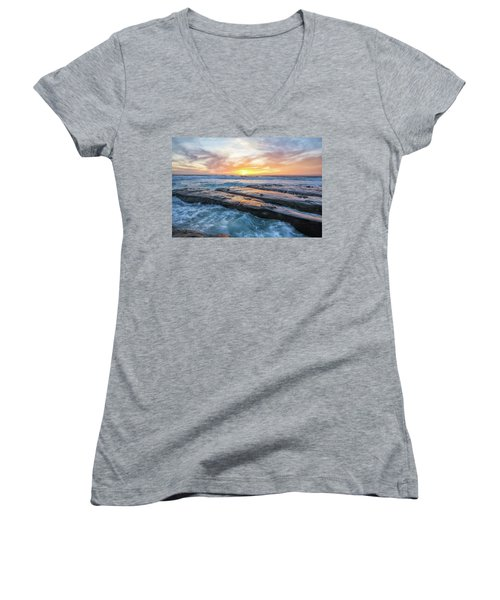 Earth, Sea, Sky Women's V-Neck (Athletic Fit)