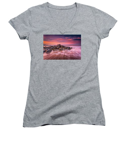 Earth, Water And Sky Women's V-Neck