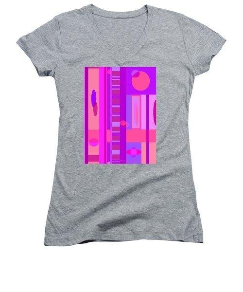 Earth Wind And Fire Women's V-Neck T-Shirt (Junior Cut) by Brooks Garten Hauschild