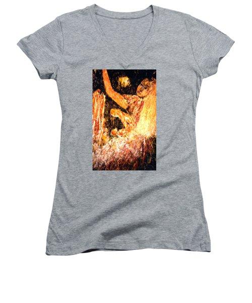 Earthy Goddess Women's V-Neck T-Shirt