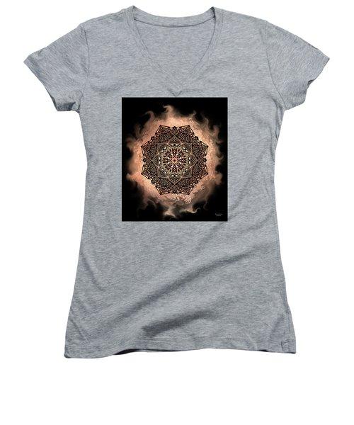 Earthy Mandala Women's V-Neck