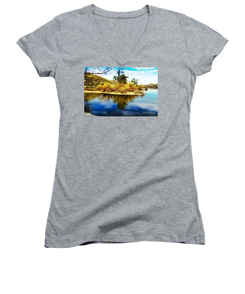 East Bay, Canyon Lake, Ca Women's V-Neck