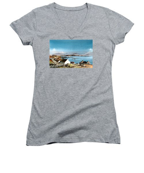 East End, Inishboffin, Galway Women's V-Neck