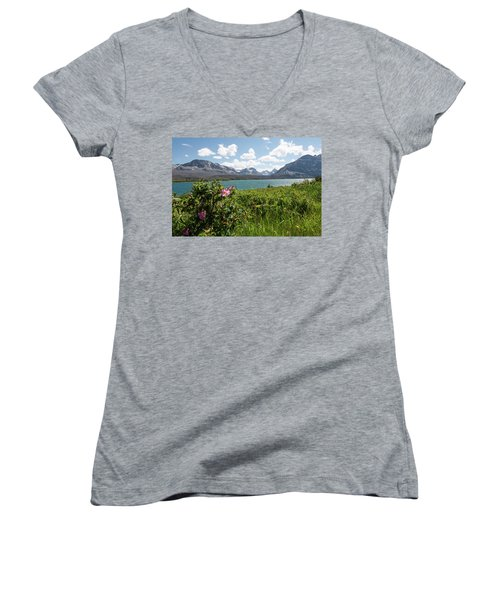 East Glacier National Park Women's V-Neck (Athletic Fit)
