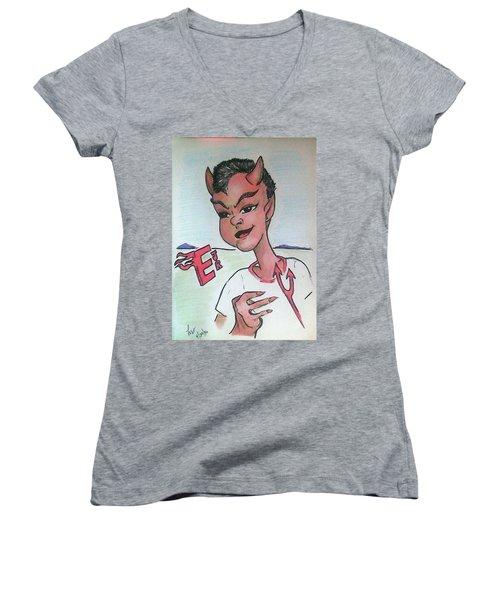 East Jr Women's V-Neck T-Shirt