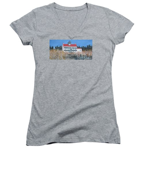 East Point Lighthouse Women's V-Neck T-Shirt