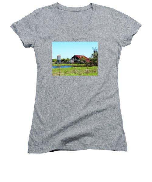 East Texas Barn Women's V-Neck T-Shirt