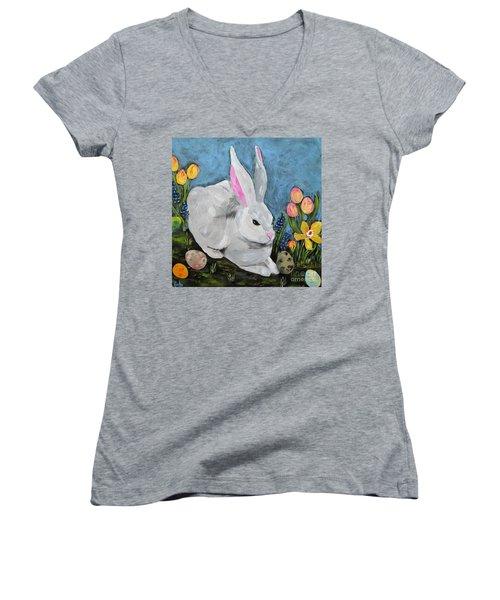Easter Bunny  Women's V-Neck