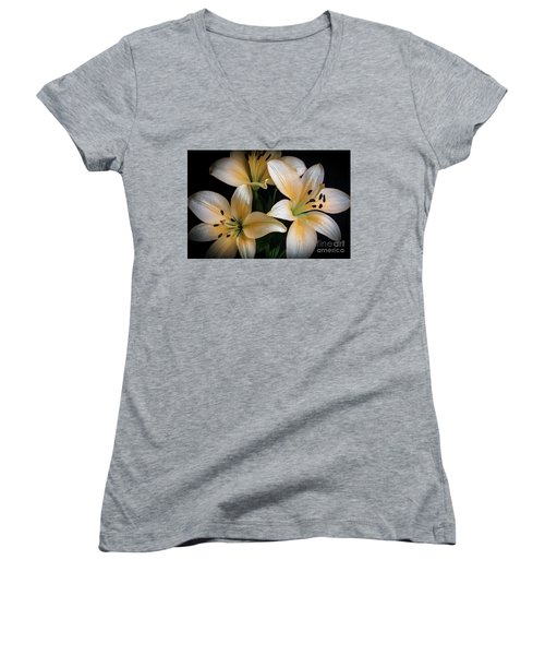 Easter Lilies  Women's V-Neck T-Shirt