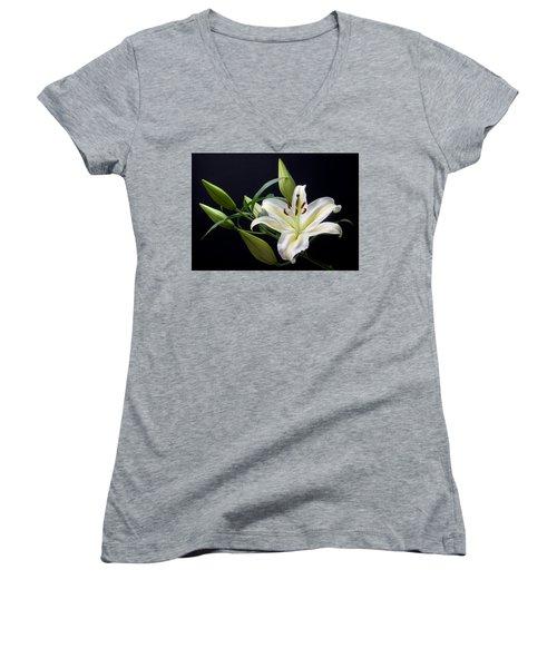 Easter Lily 3 Women's V-Neck