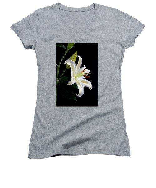 Easter Lily 5 Women's V-Neck