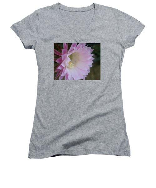 Easter Lily Cactus East Women's V-Neck T-Shirt