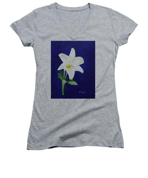 Easter Lily Women's V-Neck