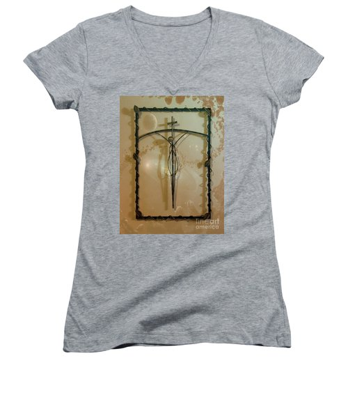Women's V-Neck T-Shirt (Junior Cut) featuring the photograph Easter Remembrance II by Al Bourassa