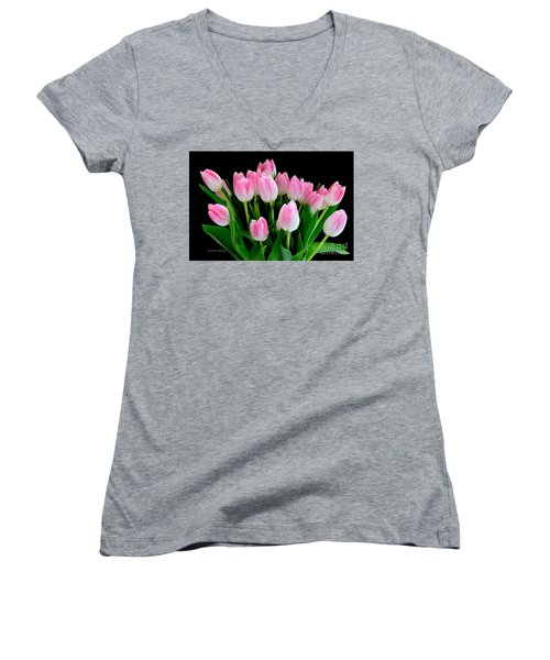 Easter Tulips  Women's V-Neck (Athletic Fit)