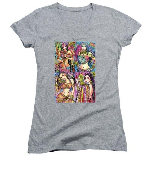 Eastern Flower Women's V-Neck T-Shirt
