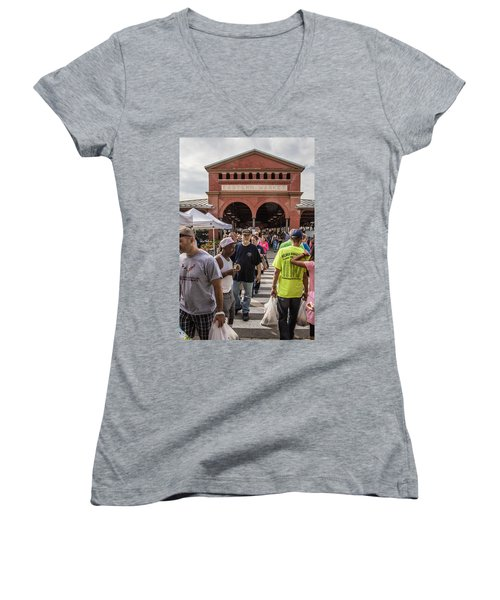 Eastern Market Summer Detroit  Women's V-Neck