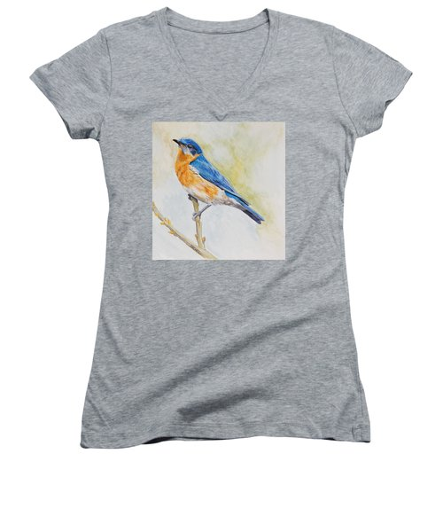 Eastern Mountain Bluebird Women's V-Neck