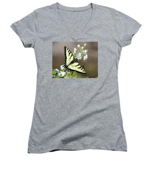 Eastern Tiger Swallowtail Female Women's V-Neck T-Shirt