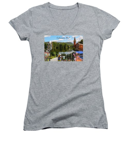 Easthampton Ma Collage Women's V-Neck