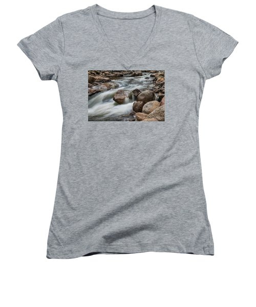 Women's V-Neck T-Shirt (Junior Cut) featuring the photograph Easy Flowing by James BO Insogna