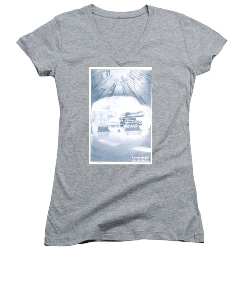 Eaton Electric Van Women's V-Neck T-Shirt