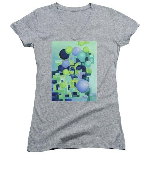 Ebbs Women's V-Neck T-Shirt (Junior Cut) by Karen Ilari