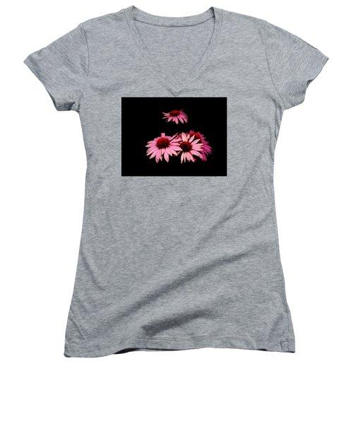 Echinacea Pop Women's V-Neck (Athletic Fit)