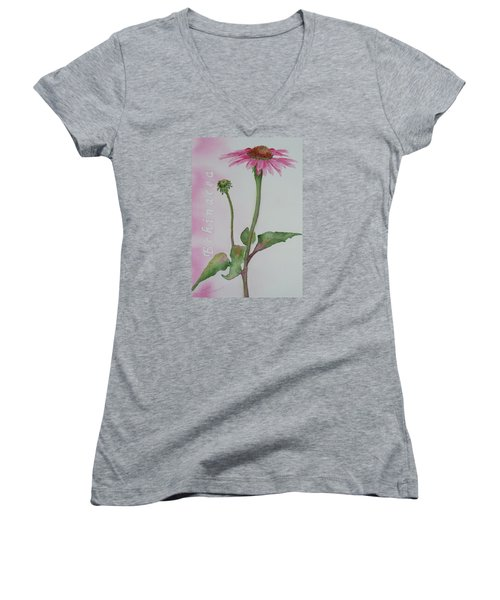 Echinacea Women's V-Neck (Athletic Fit)