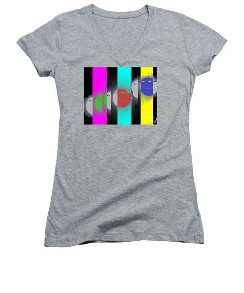 Eclipse Of Love Women's V-Neck T-Shirt