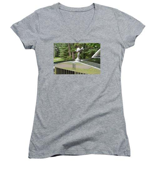 Women's V-Neck T-Shirt featuring the photograph Ecstasy by John Schneider