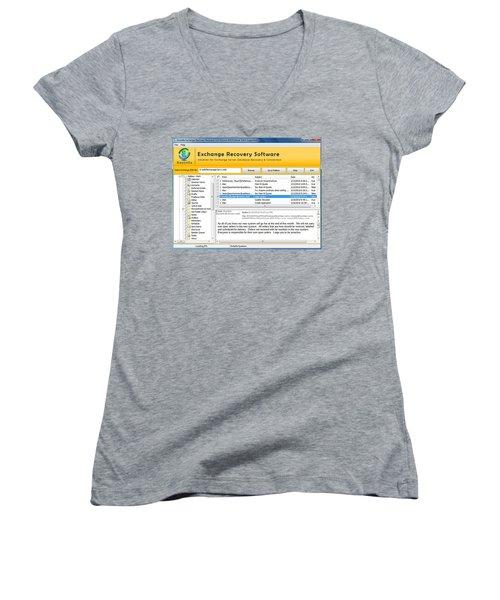 Edb To Ps T Software  Women's V-Neck T-Shirt (Junior Cut) by Tomcruise