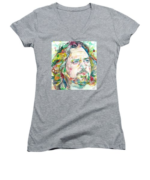 Eddie Vedder Women's V-Neck T-Shirt