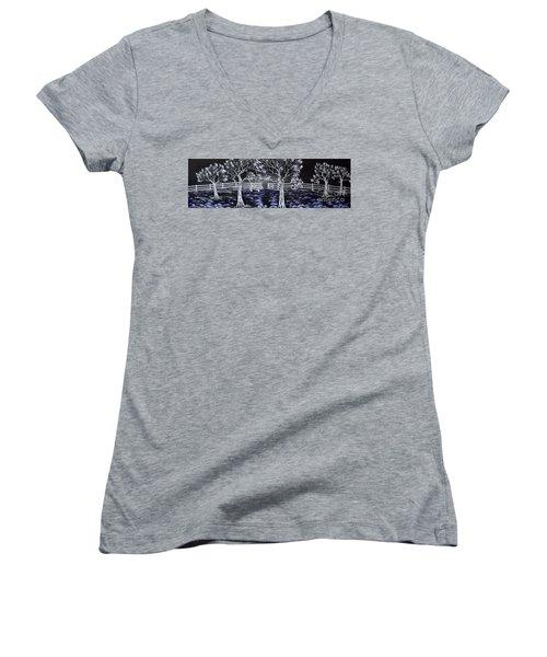 Eden Gate. Women's V-Neck T-Shirt (Junior Cut) by Kenneth Clarke