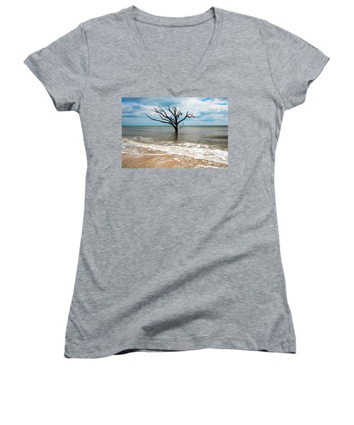 Edisto Island Tree Women's V-Neck (Athletic Fit)