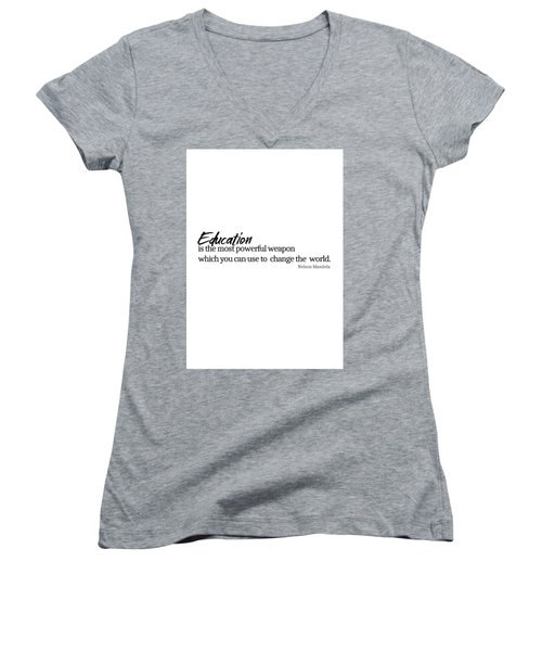 Education #minimalism Women's V-Neck