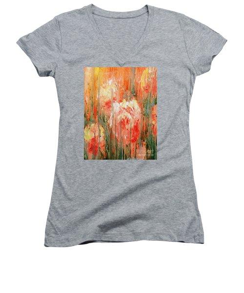 Efflorescence Women's V-Neck T-Shirt