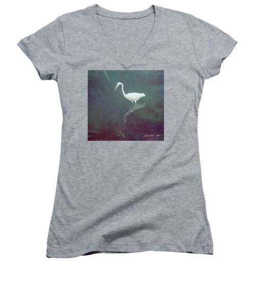 Egret Dreams Women's V-Neck