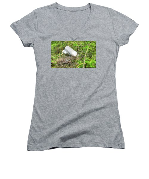 Egrets And Eggs Women's V-Neck