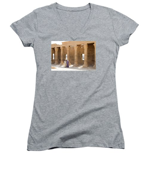 Egyptians Women's V-Neck T-Shirt (Junior Cut) by Silvia Bruno