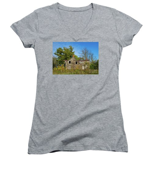 Women's V-Neck T-Shirt (Junior Cut) featuring the photograph Eidolic.. by Nina Stavlund