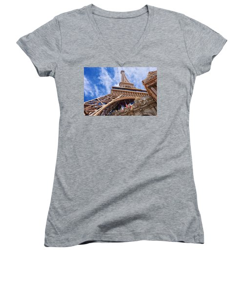 Eiffel Tower Las Vegas  Women's V-Neck