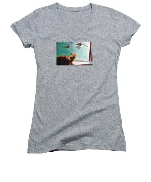 Eight Ball Women's V-Neck T-Shirt