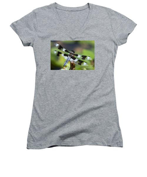 Eight-spotted Skimmer  Women's V-Neck (Athletic Fit)