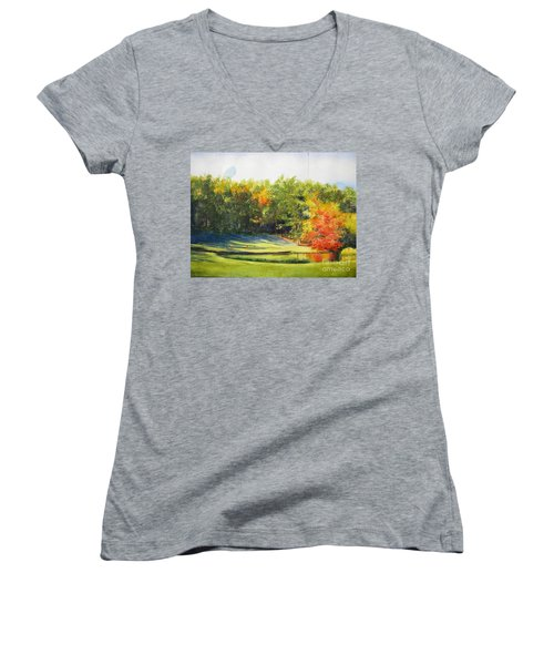 Eighteenth Hole Women's V-Neck (Athletic Fit)
