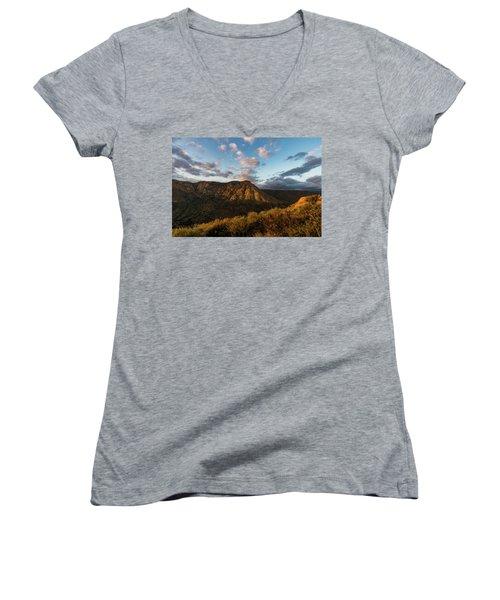 El Cajon Mountain Last Light Women's V-Neck